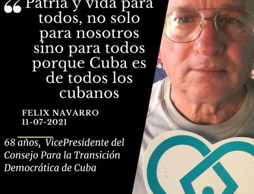 Feliz Navarro | 68 años y vicepresidente del Consejo para la Transición Democrática de Cuba